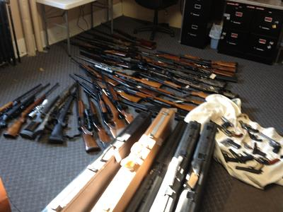 Drug Arrest Leads to Seizure of 63 Firearms in Graves County