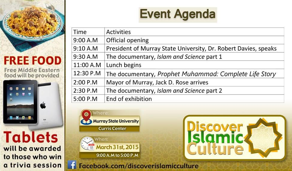 Discover Islamic Culture' in Activities, Film & Food at Murray State