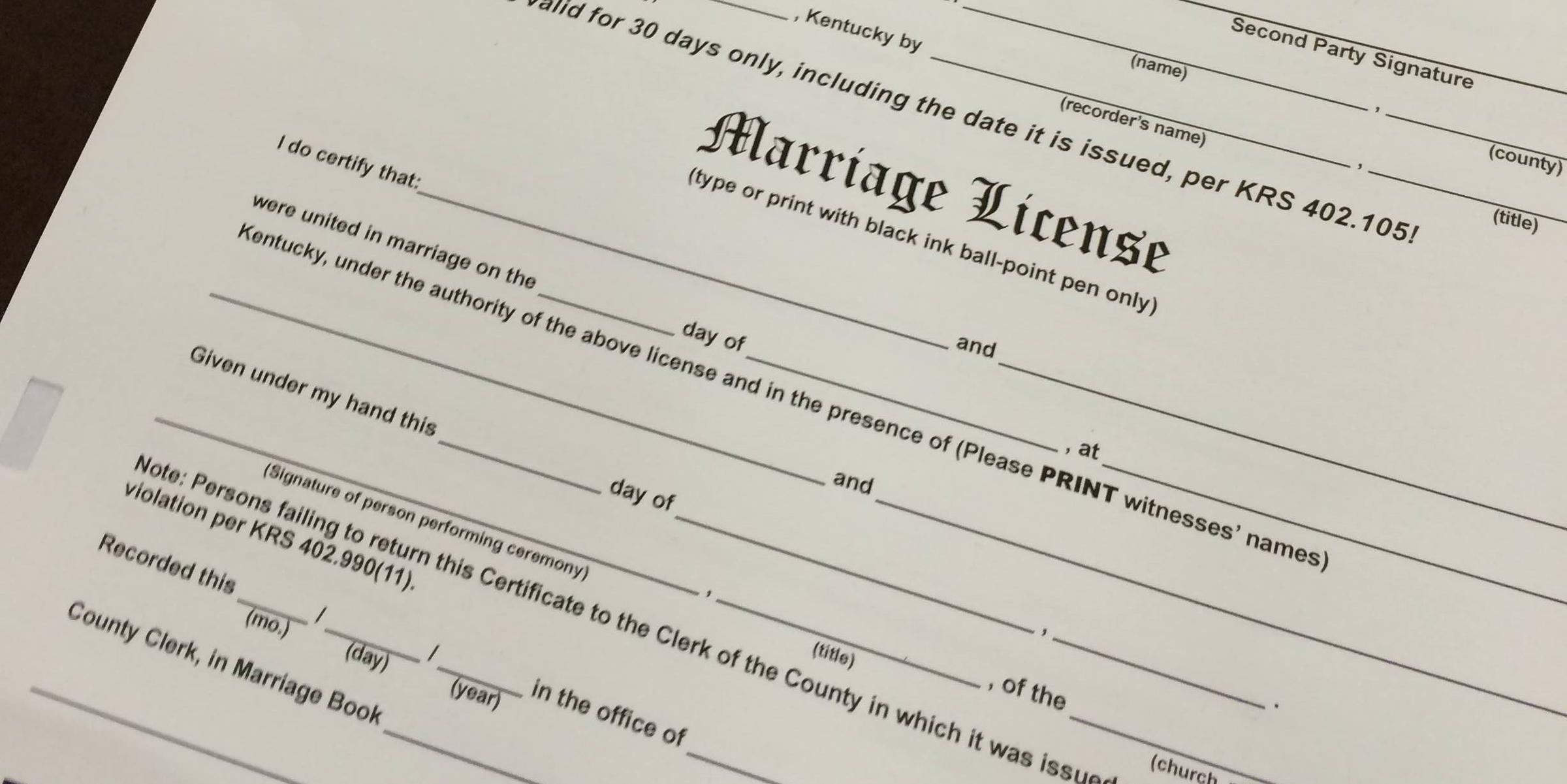 Couples Seek Legal Costs in Kentucky Marriage License Case