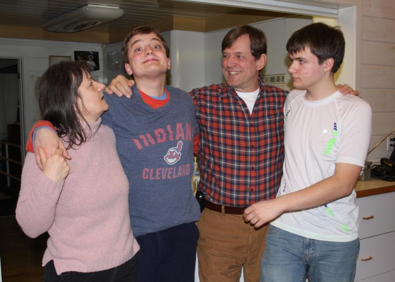 Mikey Marston is an outgoing high school junior with autism.  He's pictured  with his mother Lavinia, father Dale, and brother Tony.