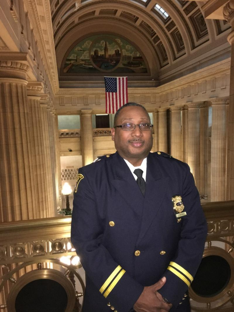 Picture of Cleveland community policing Commander Johnny Johnson