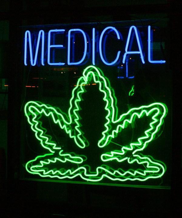 photo of a pot dispensary sign