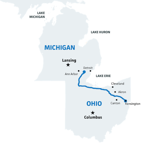 Photo of proposed NEXUS pipeline route