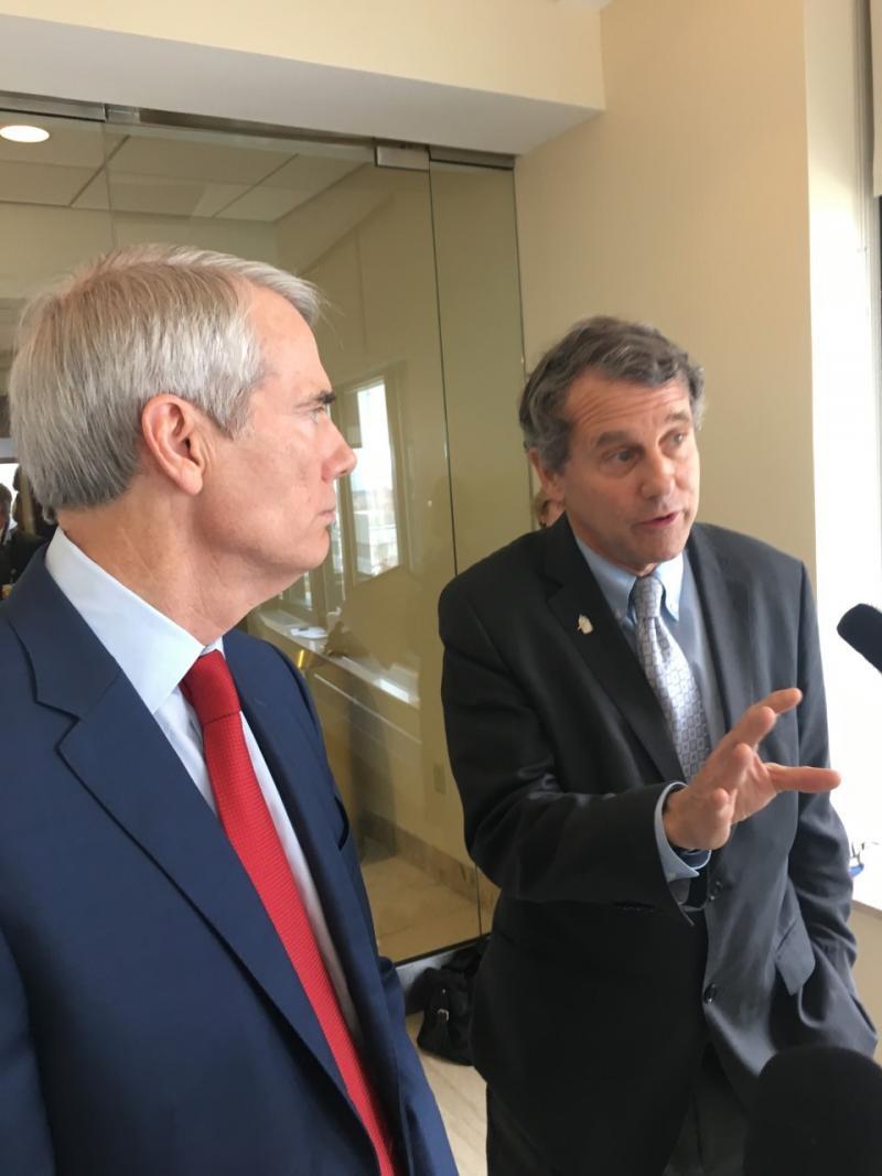 Picture of Senators Rob Portman and Sherrod Brown