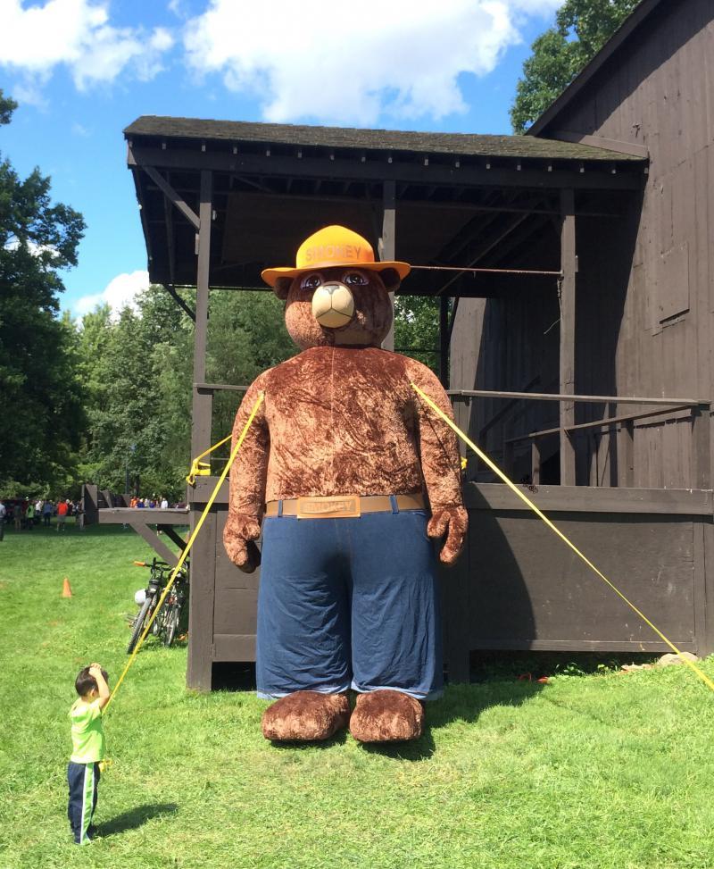 photo of Smokey the Bear