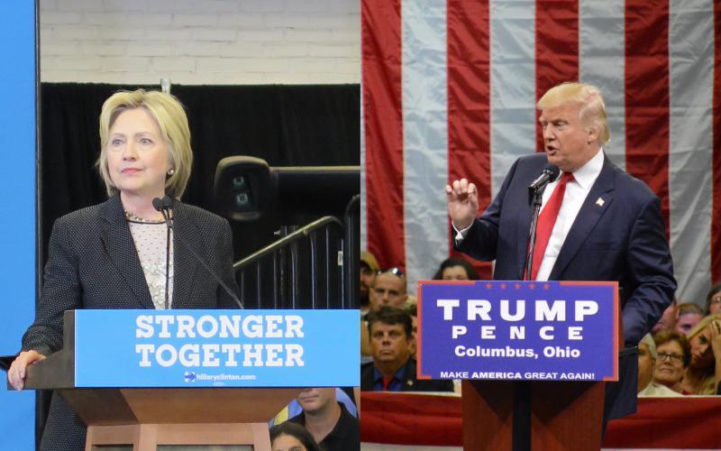 photo of Donald Trump and Hillary Clinton