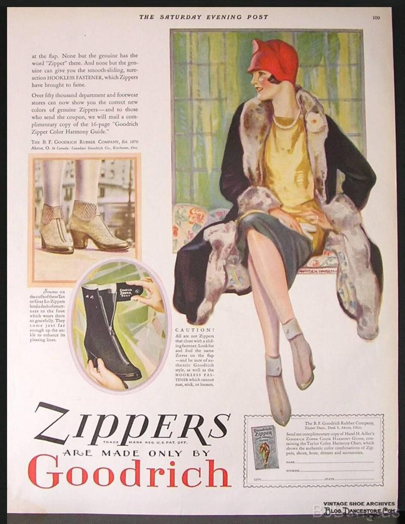 The B.F. Goodrich Company in Akron coined the term 'zipper' for a new line of boots that used Talon's hookless fastener.