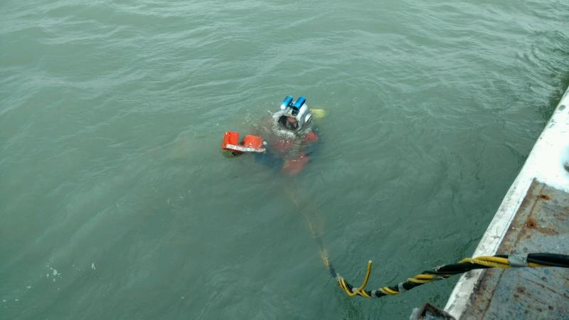 photo of Lake Erie recovery diver