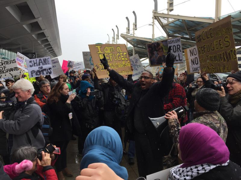 photo of Hopkins protest