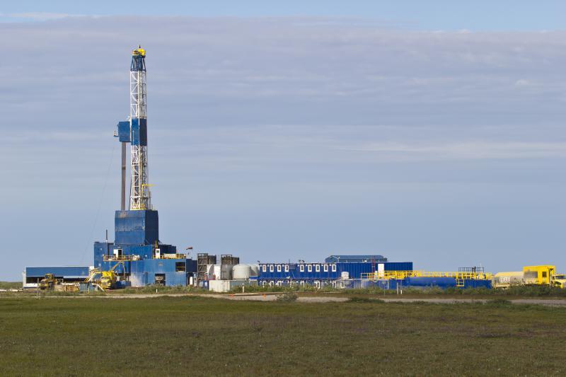 photo of natural gas drilling pad
