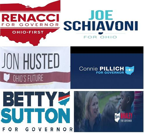photo of 2018 Ohio gubernatorial candidate posters