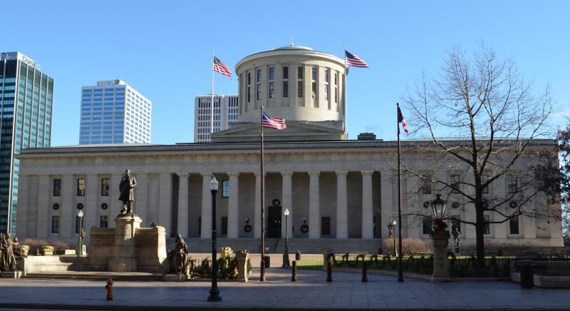 photo of the Statehouse from High Street
