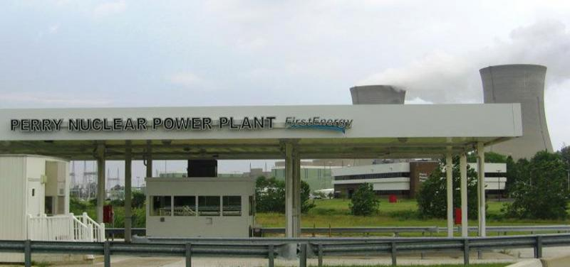 Perry Nuclear Plant east of Cleveland