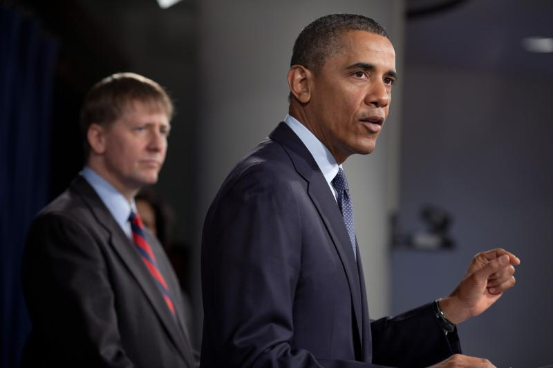 Cordray and President Obama