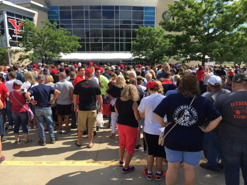 Donald Trump Supporters at Covelli Centre