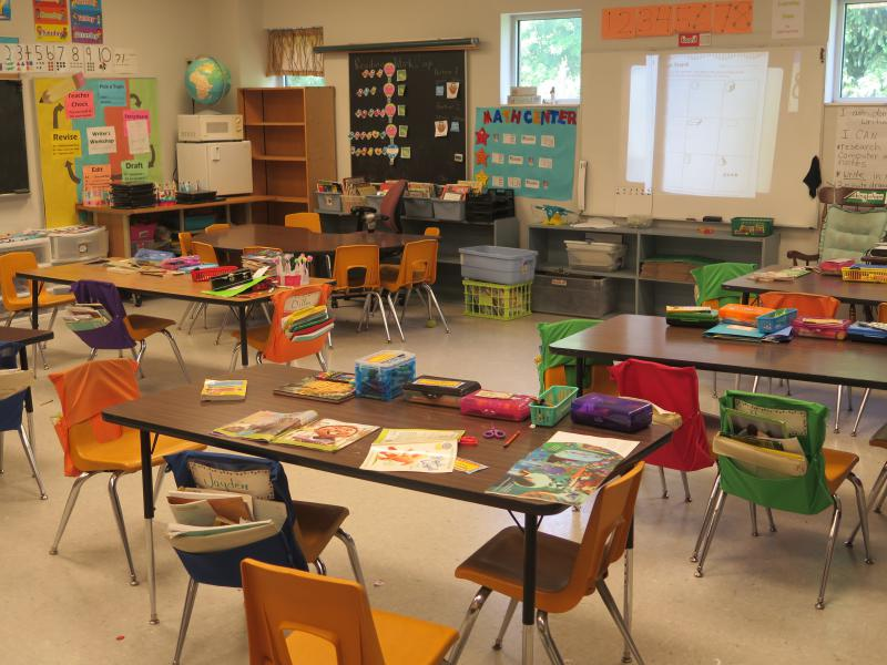 Picture of elementary school classroom