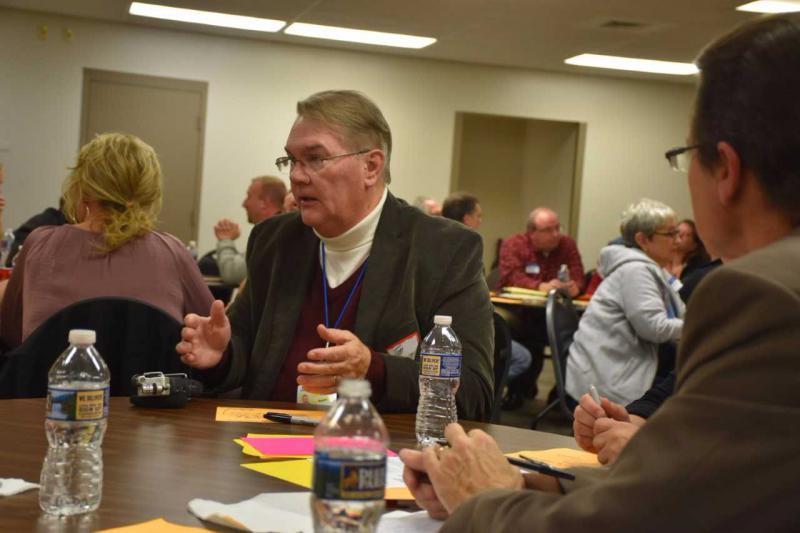 WKSU reporter Tim Rudell participates in a Your Voice Ohio forum.