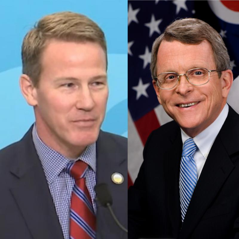 photo of Jon Husted and Mike DeWine