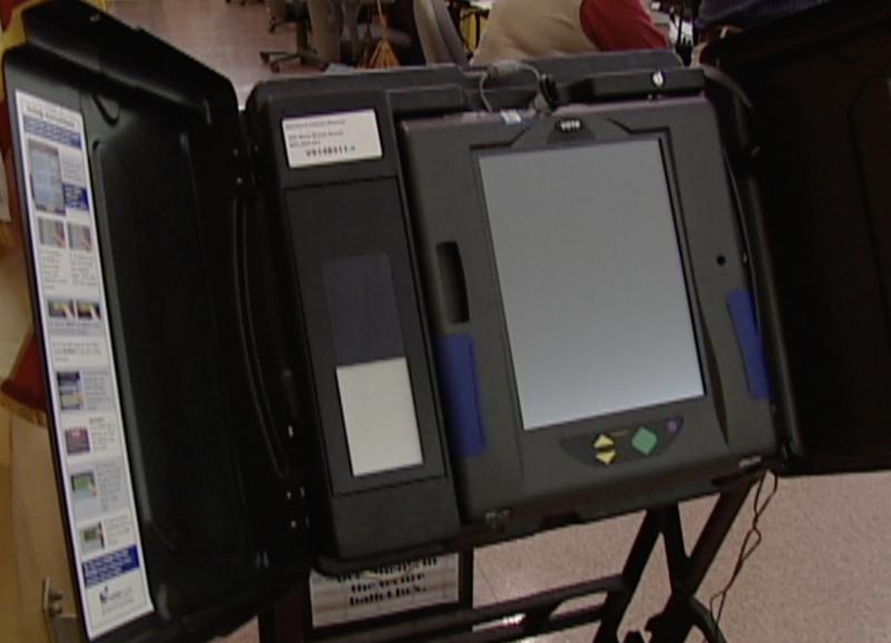 Photo of voting machine