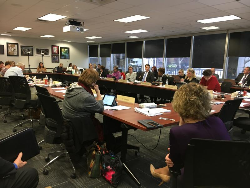 photo of Board of Education meeting