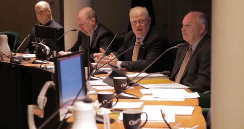 photo of Joe Calabrese at board meeting
