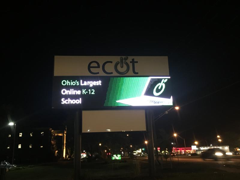 A photo of the ECOT sign.