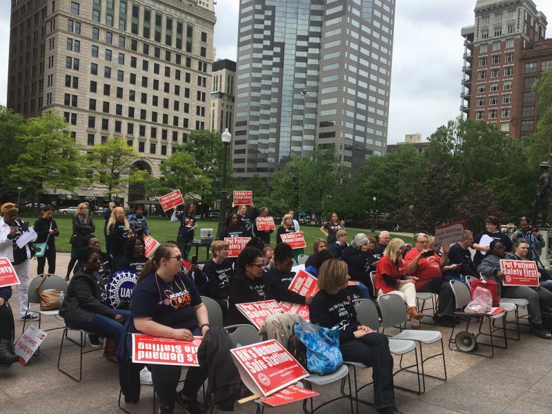 photo of nurses rally