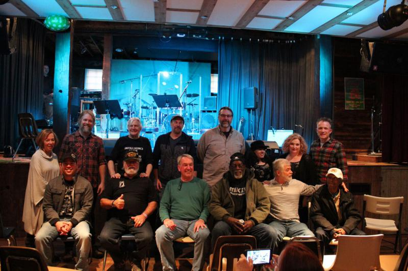Veterans and songwriters gathered together to perform songs following a Project D.R.E.W. workshop