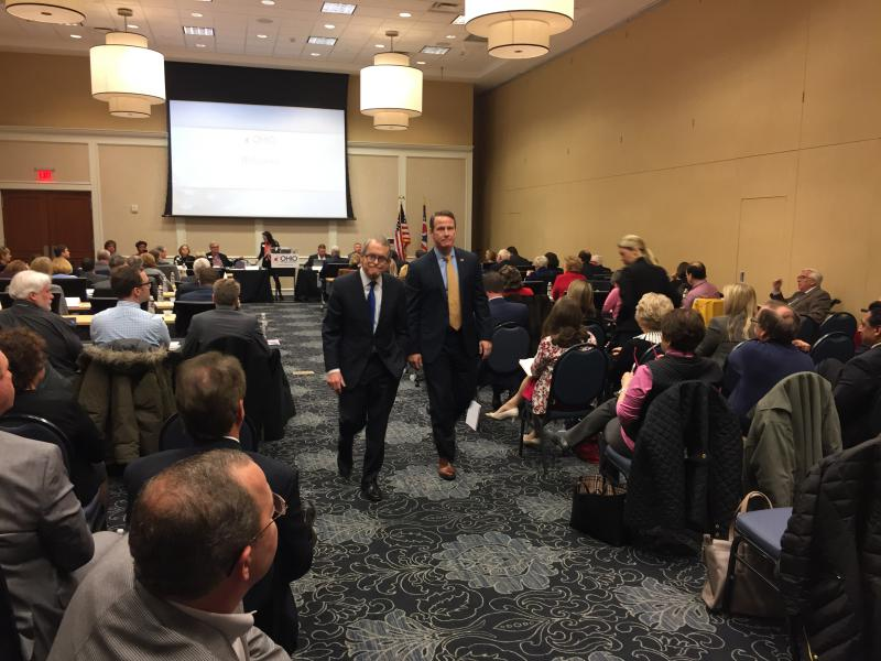 photo of Mike DeWine and Jon Husted