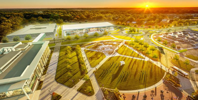 photo of Kent State artistic rendering