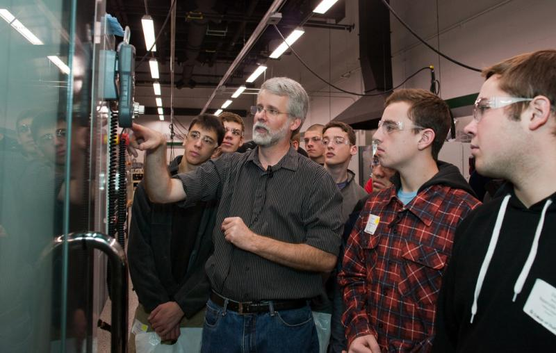 Students attend a Manufacturing and Engineering Technology Career Expo. Manufacturing, IT, and health care were among the most in demand jobs according to a new report.