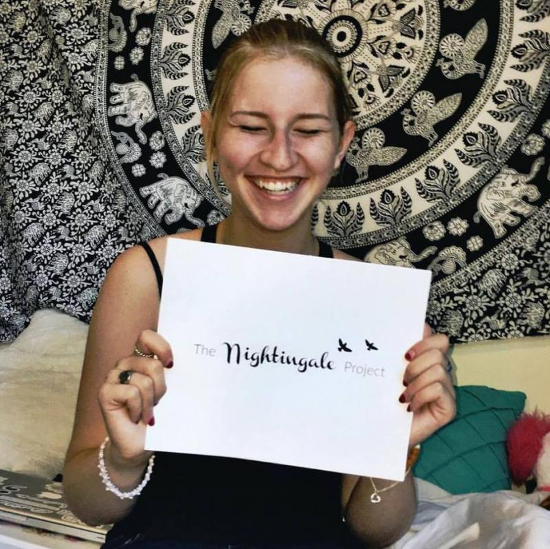 As a Kent State University freshman, Nina Schubert founded the Nightingale Project to help othe students struggling wiht mental health issues.