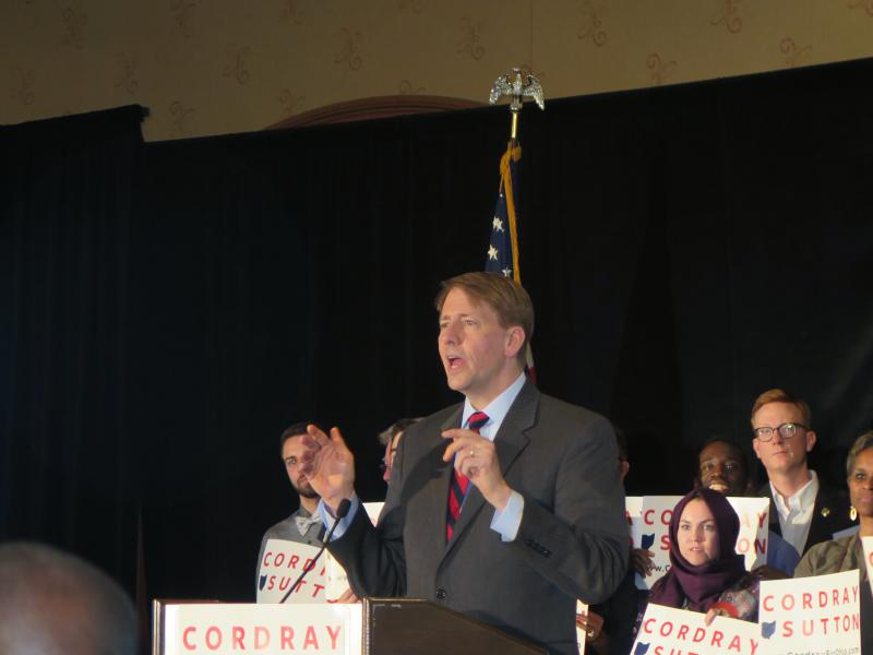 photo of Richard Cordray on primary election night 2018