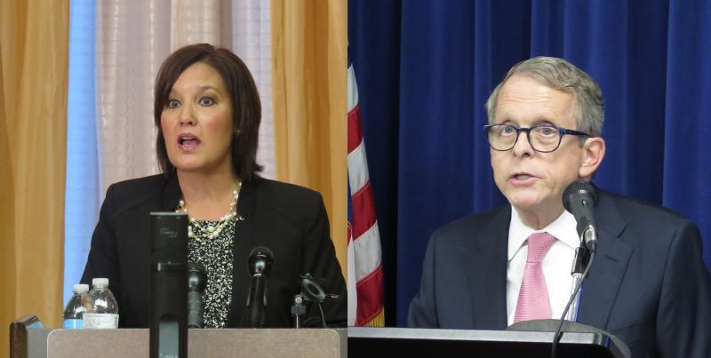 Photo of Mary Taylor and Mike DeWine