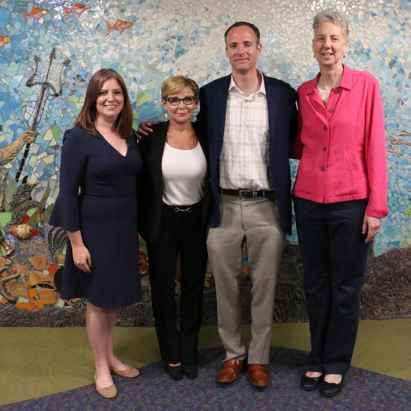 photo of Michelle Bestic, Lea Heidman, Brian Malone, Dr. Sarah Friebert