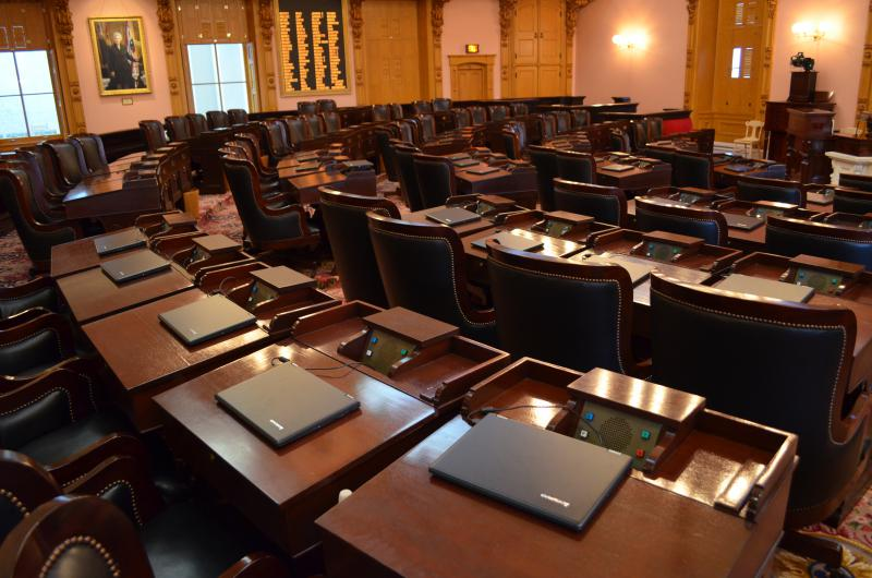 photo of empty ohio house chamber