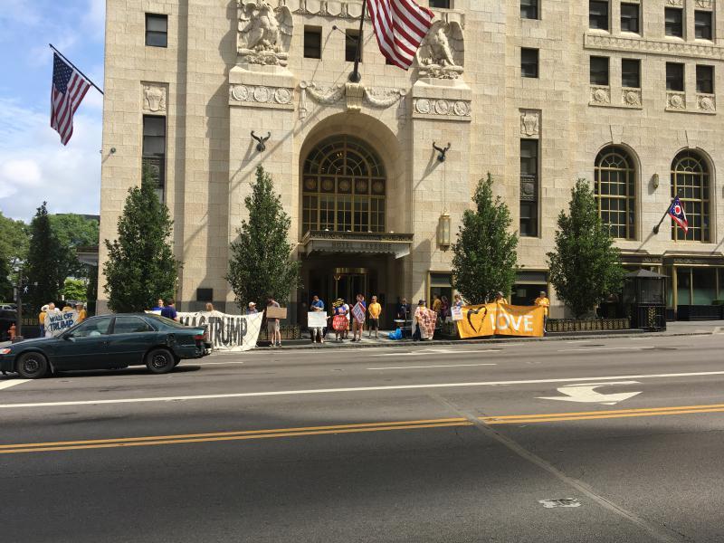 photo of Columbus ICE protest