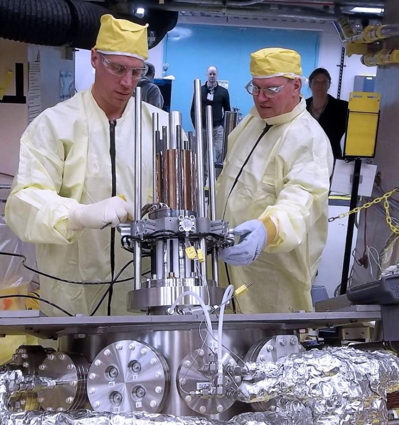 NASA engineers test the Kilopower unit in an experiment called Krusty, or Kilowatt Reactor Using Stirling Technology, a nod to the Simpson's Krusty the Clown.