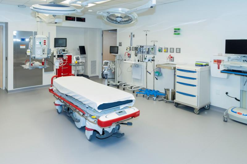 The new emergency room features two state-of-the-art trauma operating rooms that can be expanded as needed.