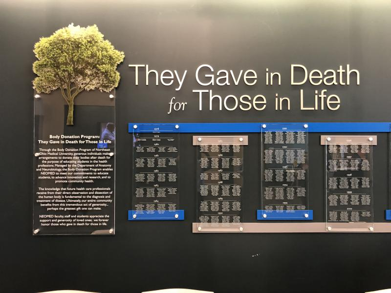 Names of donors at NEOMED