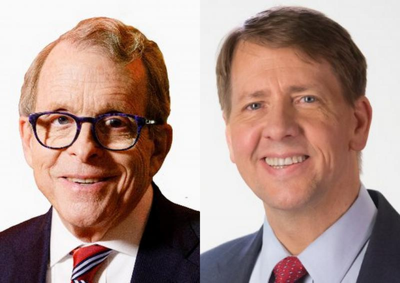 photo of Rich Cordray and Mike DeWine