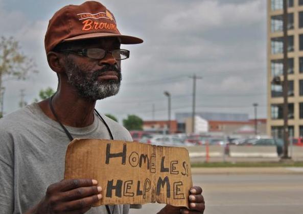 photo of panhandling