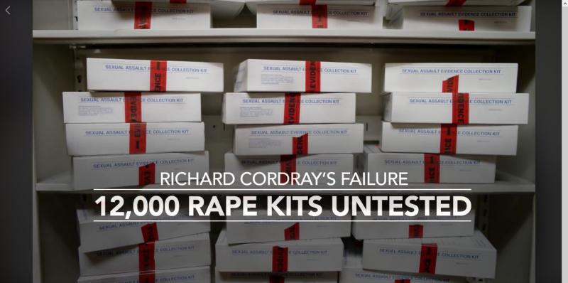 photo of untested rape kit