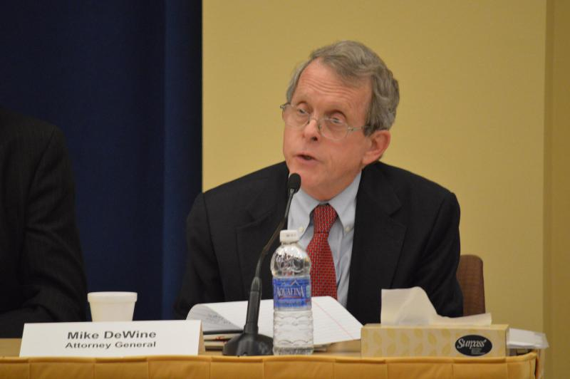 Republican candidate for governor Mike DeWine says he'll put his running mate, Jon Husted, in charge of innovation.