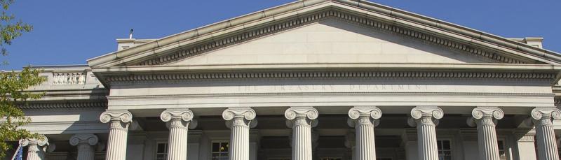 facade of U.S. Treasury building