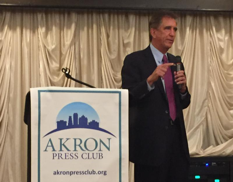 Rep. Jim Renacci speaks to the Akron Press Club. Renacci is running for a seat in the U.S. Senate.