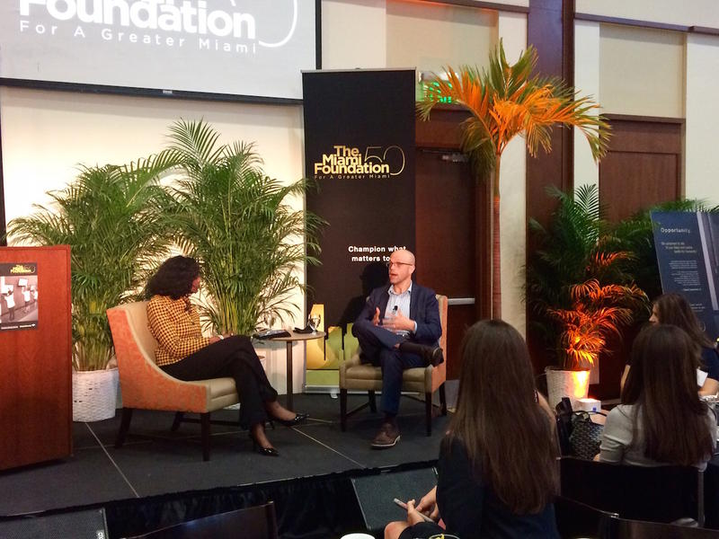 Ford Foundation leader Xavier de Souza Briggs was the featured speaker at the Miami Foundation event.