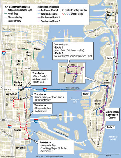 Miami Beach Trolley Route During Art Basel