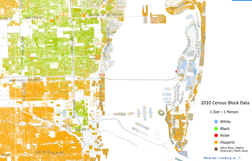 Map Of South Florida Shows How Racially Segregated We Are Wlrn - Us-map-miami