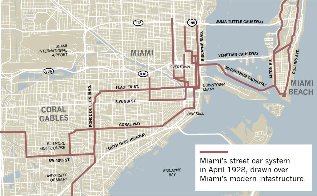 how miami-dade's dreams of light rail look a lot like its